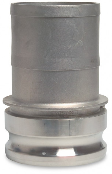 Camlock M-part with hose tail, type E