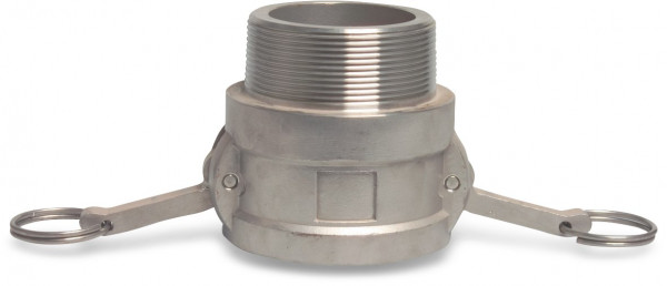 Camlock F-part with male thread, type B