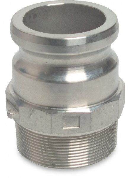 Camlock M-part with male thread, type F
