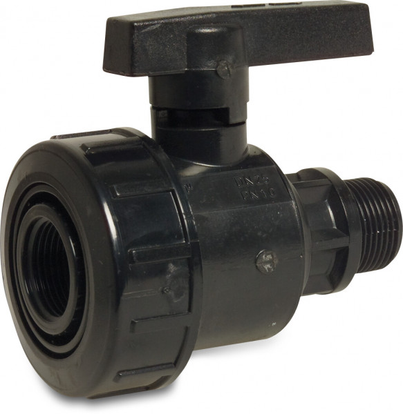 Ball valve with single union
