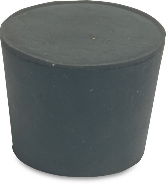 Rubber plug for collector pipes