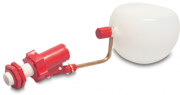 Float valve with ball