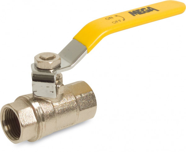 Mega Ball valve, type 107, with long DIN thread