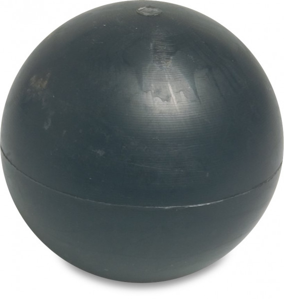 Floating ball, with plastic core