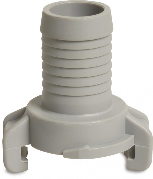 Plastic quick coupler with hose tail