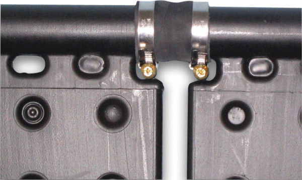 Connectorhose with 2 SS hose clamps