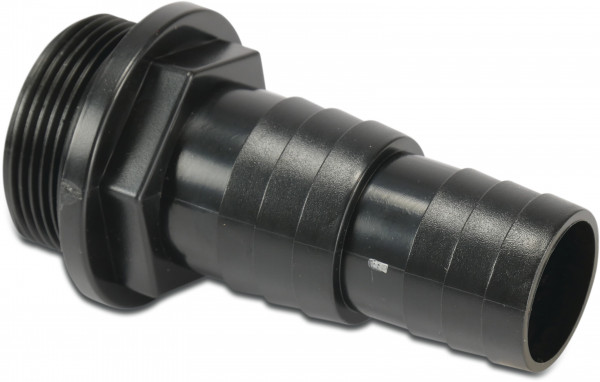 Adaptor ABS 32 & 38 mm black with O-ring