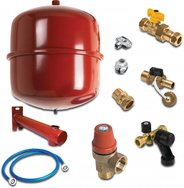 Central heating connection set