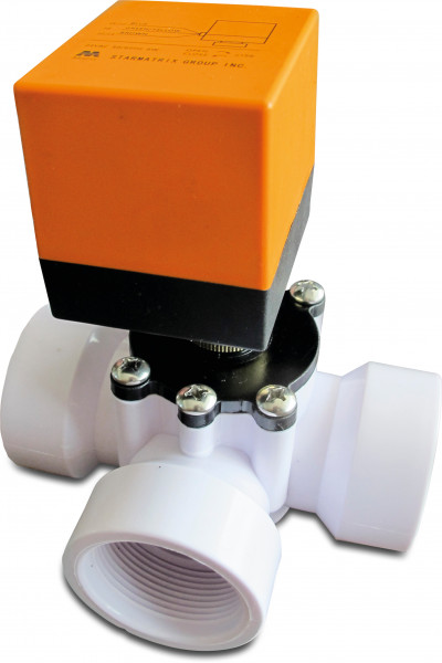 3-way actuated L-bore ball valve