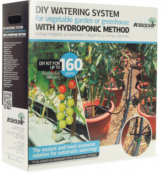 DIY watering system for vegetable garden or greenhouse up to 160 plants with hydroponic method
